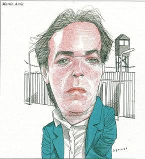 caricature of Martin Amis