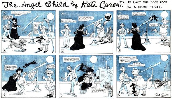 An Angel Child strip by Kate Carew