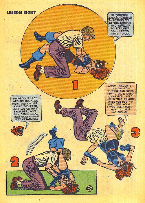 The Black Cat teaches judo tricks from Black Cat 11