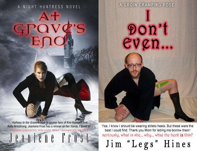 Jim Hines in a typical breakback urban fantasy cover pose