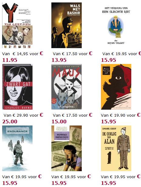 the nine graphic novels offered in the month of the graphic novel