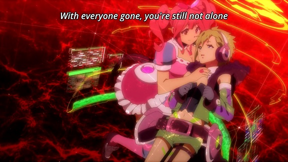 Macross Delta: gay hacking with Reina and Makina