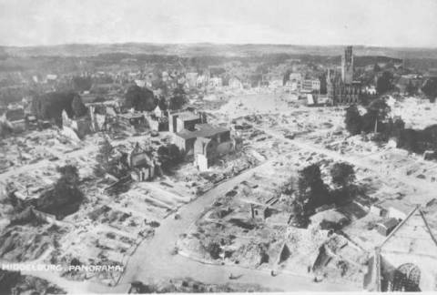 aerial picture of a devastated Middelburg