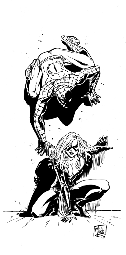 Spider-Man and the Black Cat drawn by Minck Oosterveer