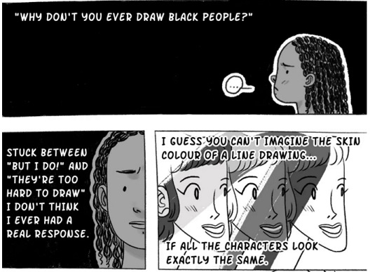 Nicole Miles: learning to draw Black people