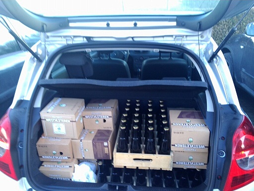 a boot full of Westvleteren beer